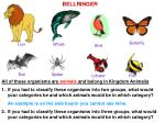 All of these organisms are animals and belong in Kingdom Animalia