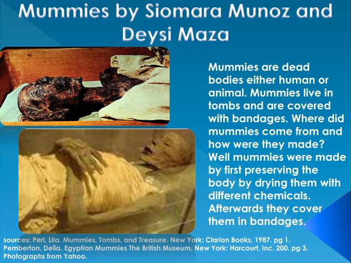 PPT - sources: Perl, Lila  Mummies, Tombs, and T reasure  New York