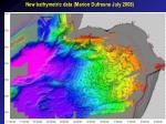 New bathymetric data (Marion Dufresne July 2008)