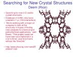 Searching for New Crystal Structures Deem (Rice)