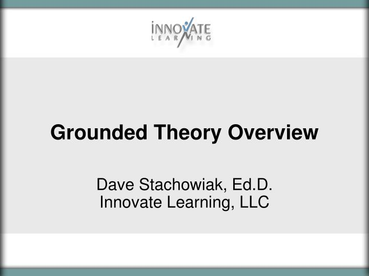 grounded theory overview n.