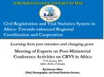 Meeting of Experts on Post-Ministerial Conference Activities on CRVS in Africa