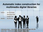 Automatic index construction for multimedia digital libraries