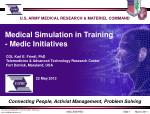 U.S. ARMY MEDICAL RESEARCH & MATERIEL COMMAND