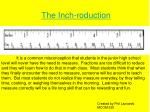The Inch-roduction