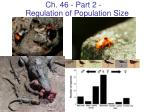 Ch. 46 - Part 2 -  Regulation of Population Size