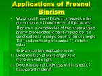 Applications of Fresnel        Biprism