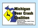 Presented by:  Richard J. Miller, MDCC Chair AAA Michigan Community Safety Services