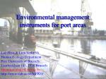 Environmental management instruments for port areas