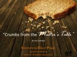 """Crumbs from the  M aster's  T able"" By Joy Gashaija"