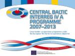 Cross-border co-operation programme under the European Territorial Co-operation objective