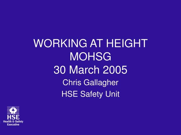 working at height mohsg 30 march 2005 n.