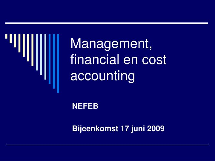 management financial en cost accounting n.