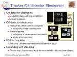 Tracker Off-detector Electronics