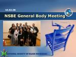 NSBE General Body Meeting
