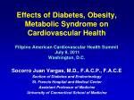 Socorro Juan Vargas, M.D., F.A.C.P., F.A.C.E Section of Diabetes and Endocrinology