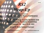 RS2 Wrap-Up
