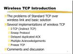 Wireless TCP Introduction