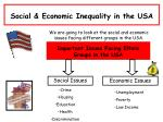 Social & Economic Inequality in the USA