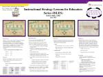Instructional Strategy Lessons for Educators Series (ISLES) ELEM, MIDG, SPED  July 2013