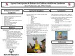 Sports Participation & Balance in Children with Down Syndrome Alex  Piedmonte  and Abby  Naville