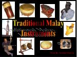 Traditional Malay Instruments