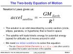 The Two-body Equation of Motion
