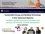 Sustainable Energy and Building Technology 3-Year Advanced Diploma