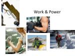 Work & Power