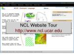 NCL Website Tour ncl.ucar