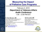 Measuring the Impact  of Palliative Care Programs