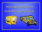 Moving Away From …