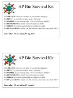 AP Bio Survival Kit An ERASER , so that you can make all your mistakes disappear.