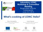 What's cooking at LOINC Italia?