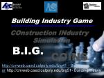 Building Industry Game