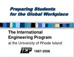 Preparing Students for the Global Workplace