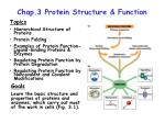 Chap.3 Protein Structure & Function