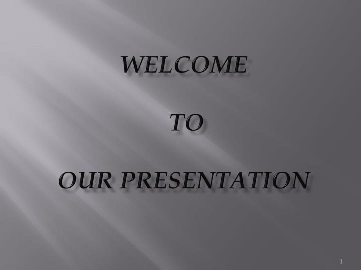 welcome to our presentation n.