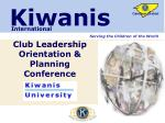 Club Leadership Orientation & Planning Conference