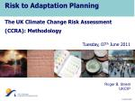 Risk to Adaptation Planning