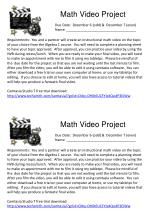 Math Video Project