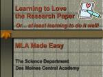 Learning to Love the Research Paper Or … at least learning to do it well!