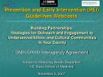 Prevention and Early Intervention (PEI) Guidelines Webcasts