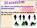 Q1: What's your feeling when you see the disabled people?