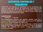 SOPORTES CONTABLES Y REQUISITOS