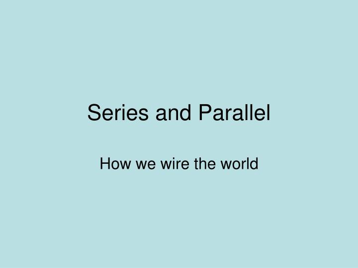 series and parallel n.