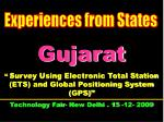 """Gujarat """"  Survey Using Electronic Total Station (ETS) and Global Positioning System (GPS)"""""""