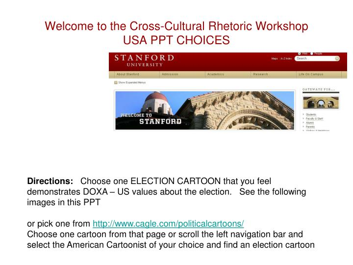 PPT - Welcome to the Cross-Cultural Rhetoric Workshop USA PPT