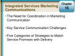 Integrated Services Marketing Communications