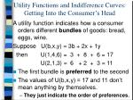 Utility Functions and Indifference Curves: Getting Into the Consumer's Head